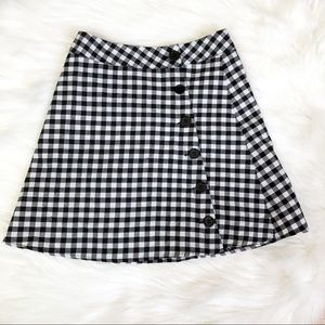 NWT By the way Gigham Mini Skirt XS